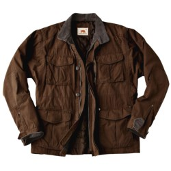 Dakota Grizzly Saxon Waxed Baby Canvas Coat - Quilt Lining (For Men)