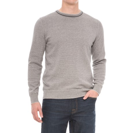 Porter & Ash Micro-Stripe Sweater - Crew Neck (For Men)