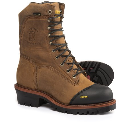 "Chippewa 9"" Apache Leather Work Boots -  Waterproof, Insulated (For Men)"