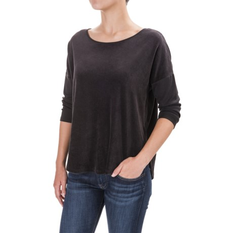 Indigenous Plush Velour Shirt - Organic Cotton, 3/4 Sleeve (For Women)