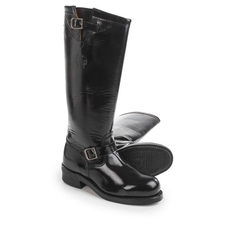 """Chippewa Polishable Leather Motorcycle Trooper Boots - Steel Safety Toe, 17"""" (For Men)"""