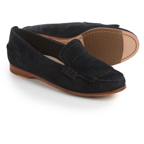Cole Haan Pinch Grand Penny Kiltie Loafers - Suede (For Women)