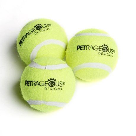 PetRageous PlayRageous Chaser Tennis Balls - 3-Pack
