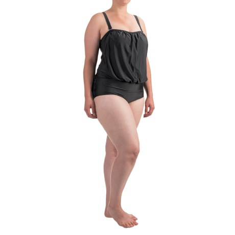 Seekers Contour Solid Fixed-Cup One-Piece Plus Size Swimsuit (For Women)