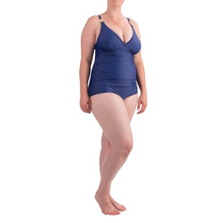 Seekers Contour Shirred One-Piece Plus Size Swimsuit (For Women)