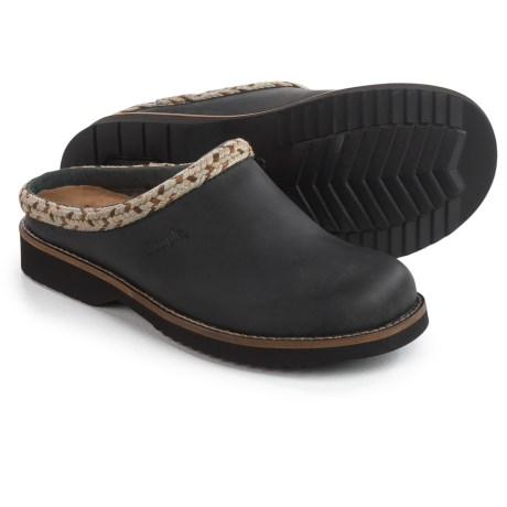 Simple Hallie Clogs - Leather, Open Back (For Women)