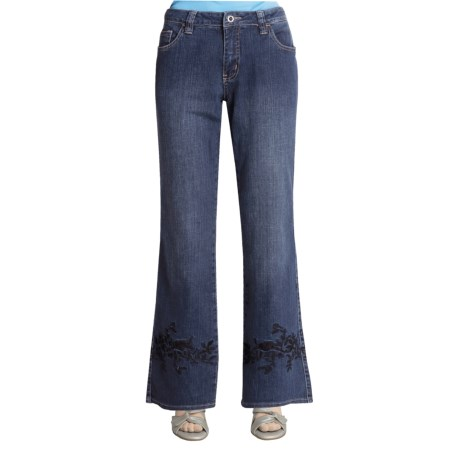 Ethyl Embroidered Jeans - Bootcut (For Women)