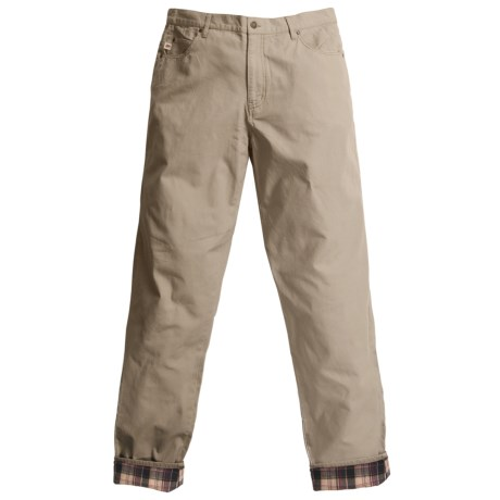 Grizzly Dax Flannel-Lined Canvas Pants (For Men)