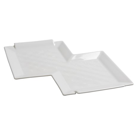 Revol Bombay Double-Square Tray - Porcelain