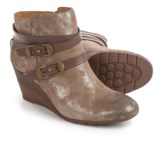 Sofft Oakes Wrapped Strap Wedge Ankle Boots - Suede (For Women)