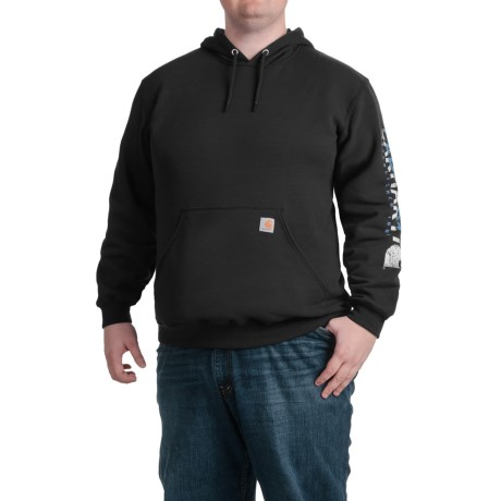 Carhartt Block Graphic Logo Hoodie - Factory Seconds (For Men)