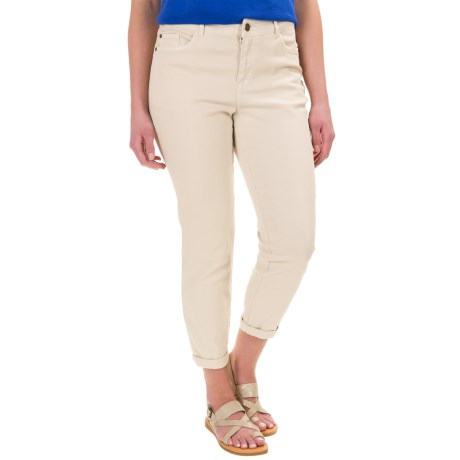 Caribbean Joe Twill Ankle Pants (For Women)