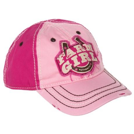 Farm Girl Baseball Cap (For Little Girls)