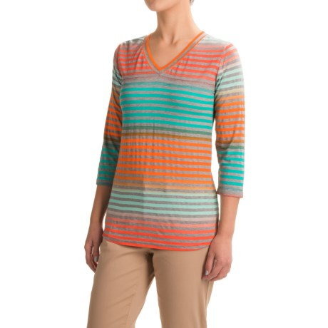 FDJ French Dressing Rainbow Stripe Shirt - 3/4 Sleeve (For Women)
