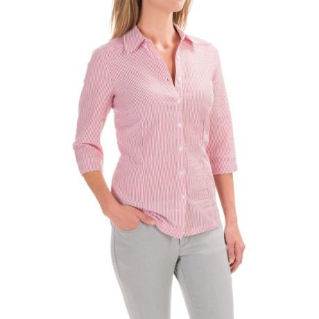 FDJ French Dressing Striped Seersucker Blouse - 3/4 Sleeve (For Women)