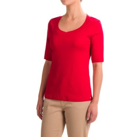FDJ French Dressing Jersey Scoop Neck Shirt - Short Sleeve (For Women)