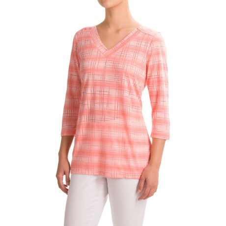 FDJ French Dressing Burnout Viscose Shirt - 3/4 Sleeve (For Women)