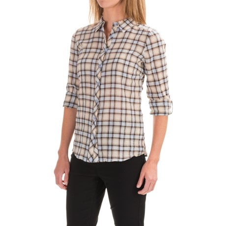 FDJ French Dressing Crinkled Plaid Shirt - Roll-Up Long Sleeve (For Women)