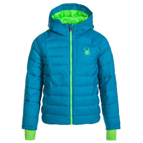 Spyder Upside Down Puffer Jacket - Insulated (For Big Kids)