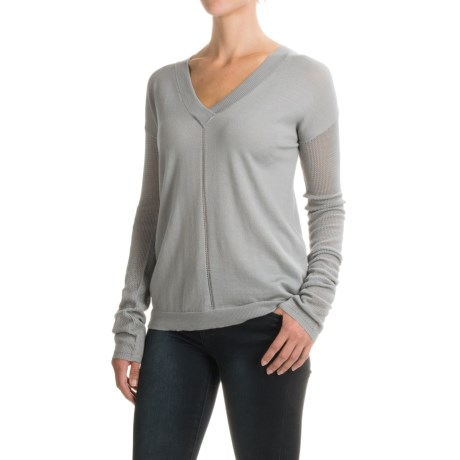 Carve Designs Torrey Sweater - Merino Wool, V-Neck, Long Sleeve (For Women)
