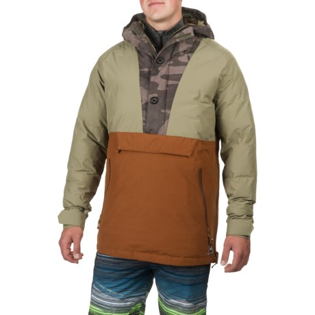 Burton Service Anorak Jacket - Waterproof, Insulated, Zip Neck (For Men)