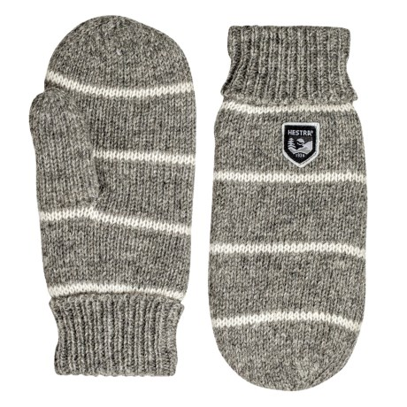 Hestra Striped Wool Mittens (For Men)