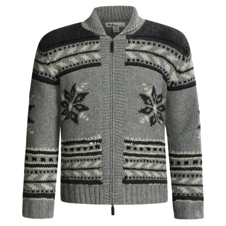 Neve Glockner Cardigan Sweater - Merino Wool, Fleece Lined (For Men)