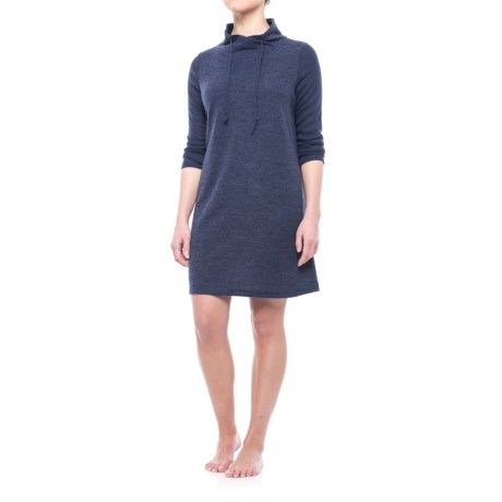 Live Love Lounge by Karen Neuberger Knit Nightgown - Cowl Neck, Long Sleeve (For Women)