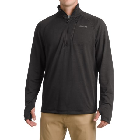 Pacific Trail Grid Fleece Sweater - UPF 30, Zip Neck (For Men)