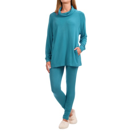 Ink+Ivy Terry Cowl Neck Shirt and Leggings Set - 2-Piece, Long Sleeve (For Women)