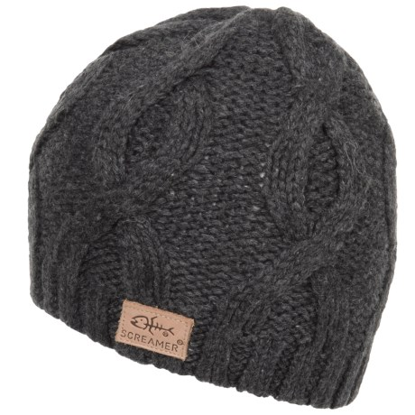 Screamer Chunky Cable Beanie (For Men)