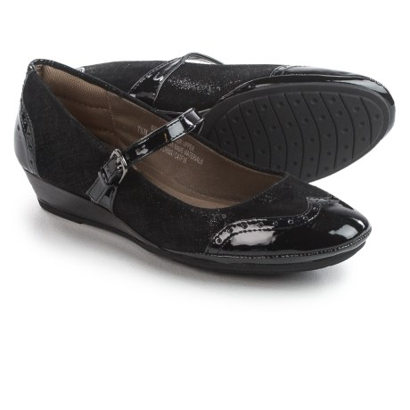 Comfortiva Amherst Mary Jane Shoes - Leather, Wedge Heel (For Women)
