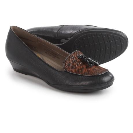 Comfortiva Ashten Wedge Shoes - Leather, Slip-Ons (For Women)