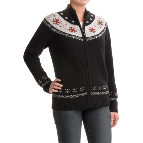 Woolrich Poinsettia Cardigan Sweater - Lambswool (For Women)