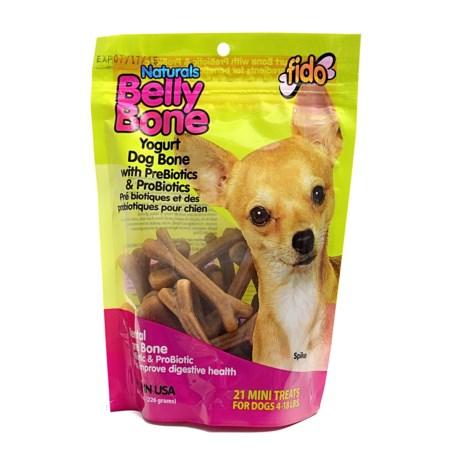 Fido Belly Bone Yogurt Dental Dog Treats - Mini, 21-Pack
