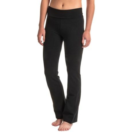Earth Yoga Foldover Bootcut Pants (For Women)