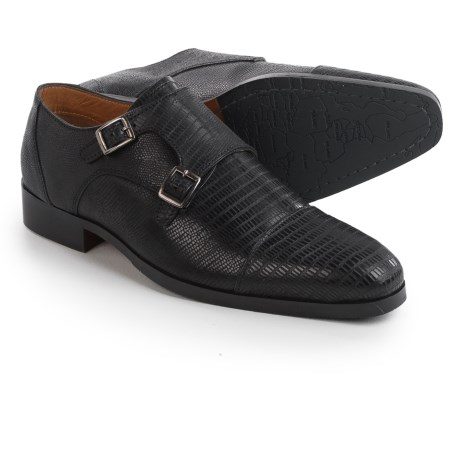 Steve Madden Rocodile Monk Strap Shoes (For Men)