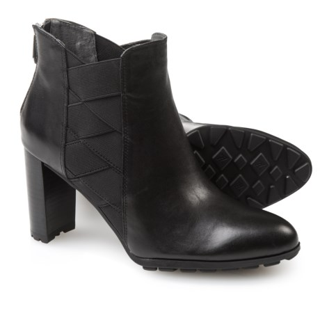 Adrienne Vittadini Trini Leather Booties - Elastic Side Gores (For Women)