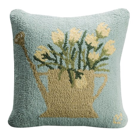 Chandler 4 Corners Hooked Cotton Pillow - 18x18""