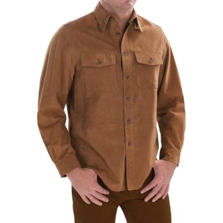 Golden Bear Stevenson Suede Shirt - Long Sleeve (For Men)
