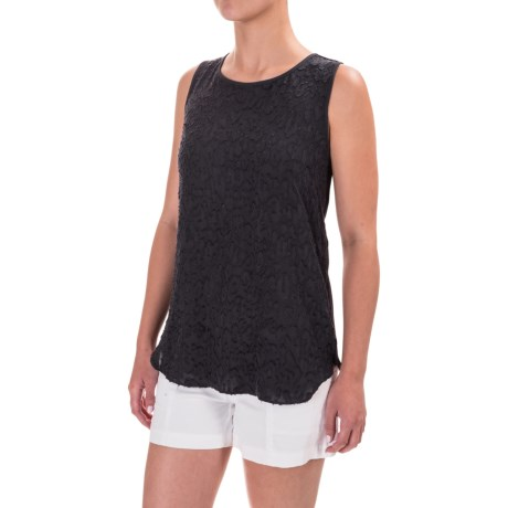 Specially made Jacquard Chiffon Panel Tank Top (For Women)