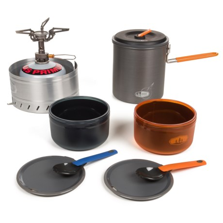 GSI Outdoors Halulite Microdualist Complete Stove and Cookset