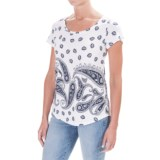 Workshop Republic Clothing Micromodal® Blend Jersey T-Shirt - Short Sleeve (For Women)