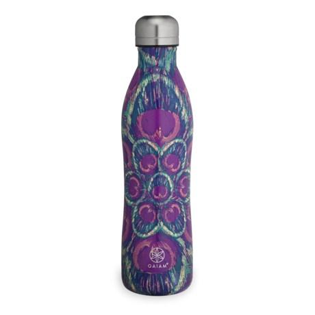 Gaiam Easy Grip Stainless Steel Water Bottle - 17 fl.oz., BPA-Free