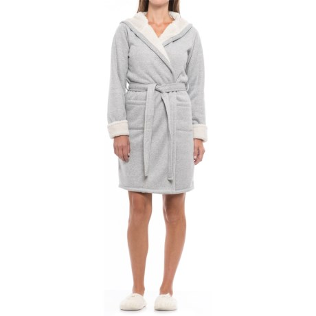 Tahari Hooded Plush Robe - Long Sleeve (For Women)
