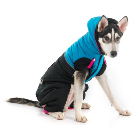 Silver Paw Two-Piece Polar Fleece Hooded Dog Snowsuit