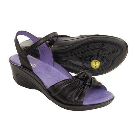 Jambu Gille Leather Sandals - Wedge Heel (For Women)