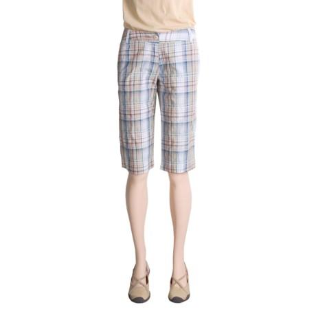 OSO Republic Beah Shorts - Cotton Poplin Plaid (For Women)