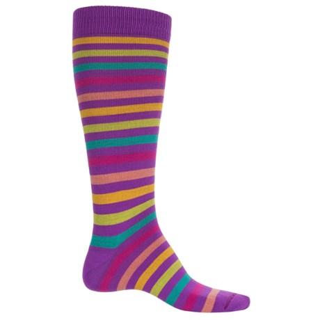 Eurosock Flakes and Stripes Ski Socks - Over the Calf (For Men and Women)