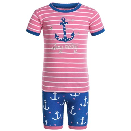 Hatley Little Blue House by  Shirt and Shorts Pajamas - Short Sleeve (For Little Girls)